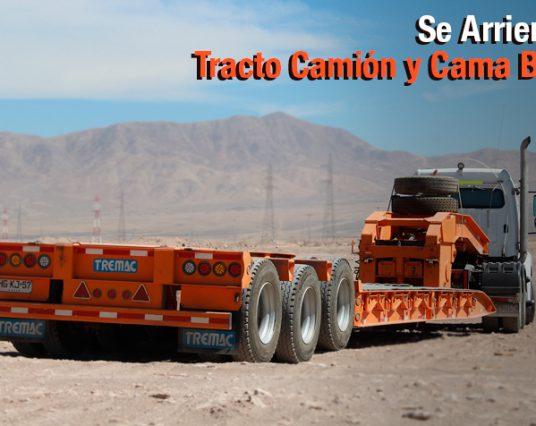 Se Arrienda Tracto Camión y Cama Baja