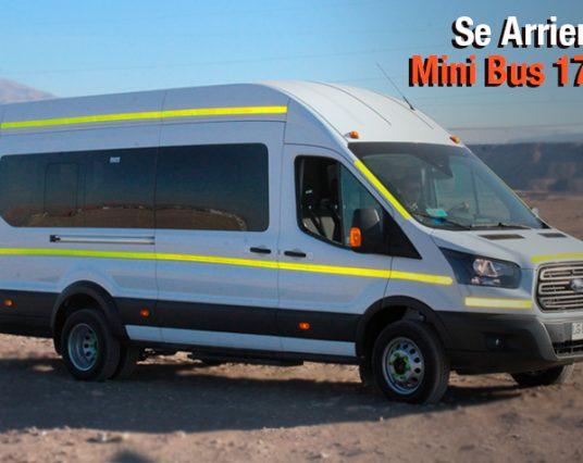 Se Arrienda Mini Bus