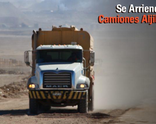 Arriendos de Camiones Aljibe