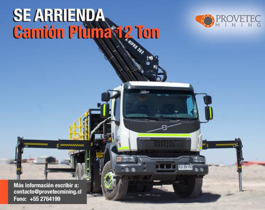 Camión Pluma 12 Ton